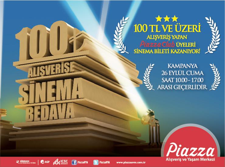 100 TL Alışverişe Sinema Bedava