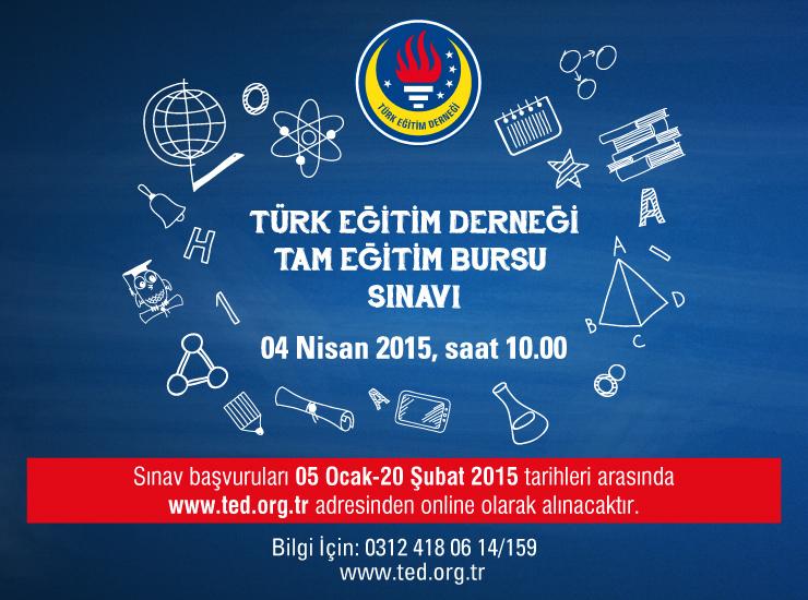 Türk Eğitim Derneği Tam Eğitim Bursu Sınavı