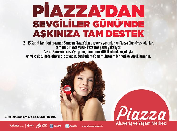Piazza'dan Sevgililer Günü'nde Aşkınıza Tam Destek