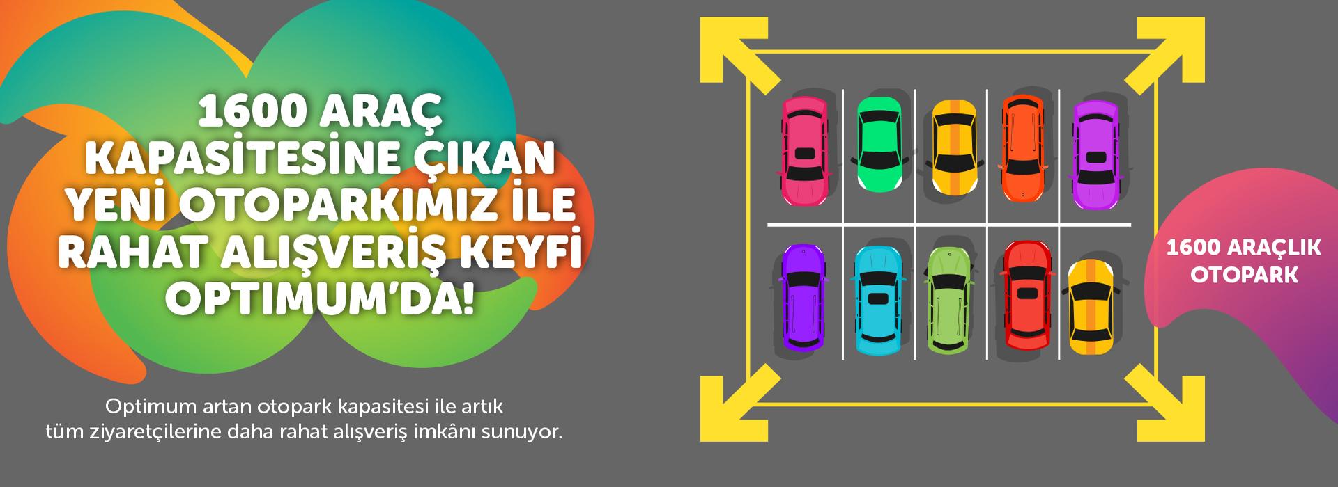 1600 Araç Kapasitesine Çıkan Yeni Otoparkımız ile Rahat Alışveriş Keyfi Optimum'da!