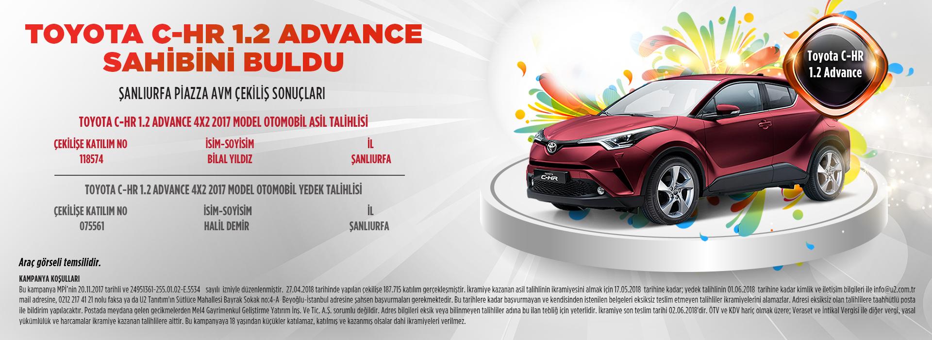 Toyota C-HR 1.2 Advance Sahibini Buldu