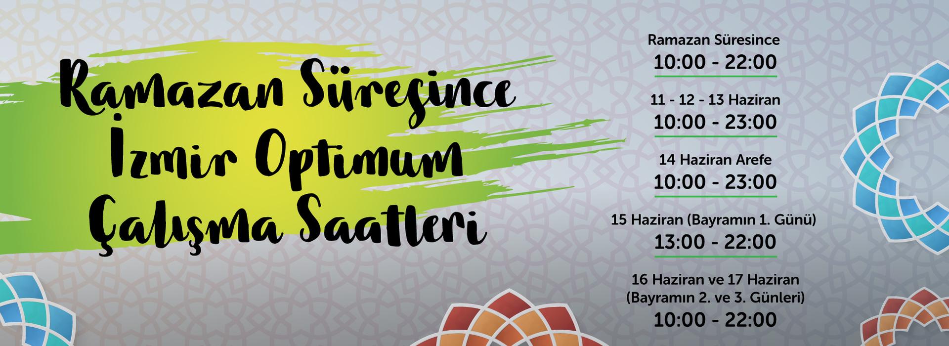 Ramazan Süresince İzmir Optimum Çalışma Saatleri
