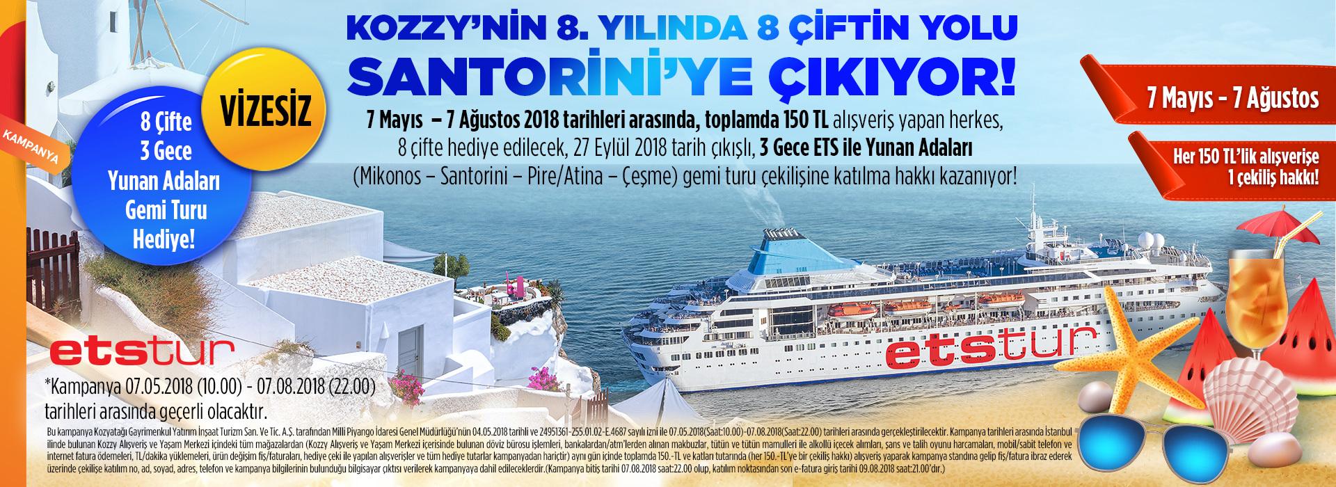 Kozzy'nin 8. Yılında 8 Çiftin Yolu Santorini'ye Çıkıyor!