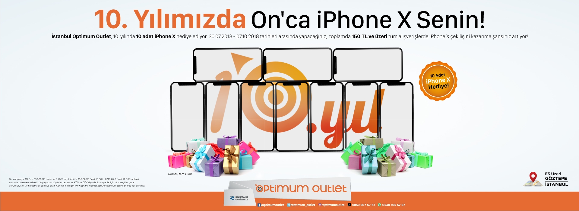 10. yılımızda ON'CA I Phone X Senin!