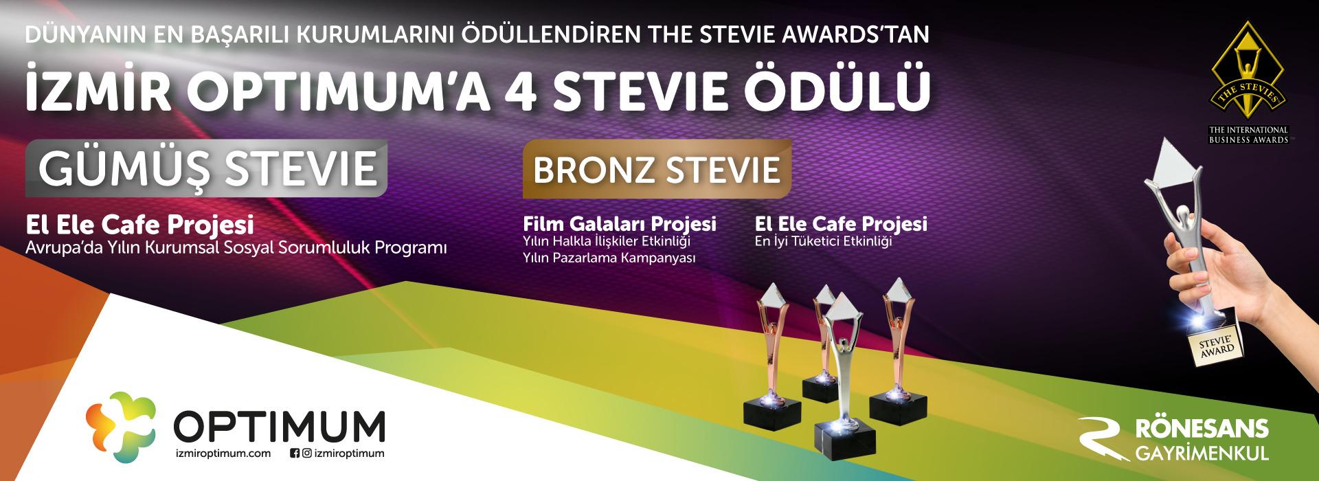 İzmir Optimum'a 4 Stevie Ödülü