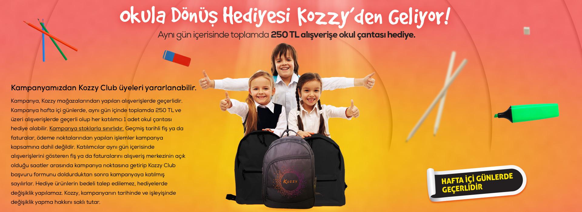 Okula Dönüş Hediyesi Kozzy'den Geliyor!