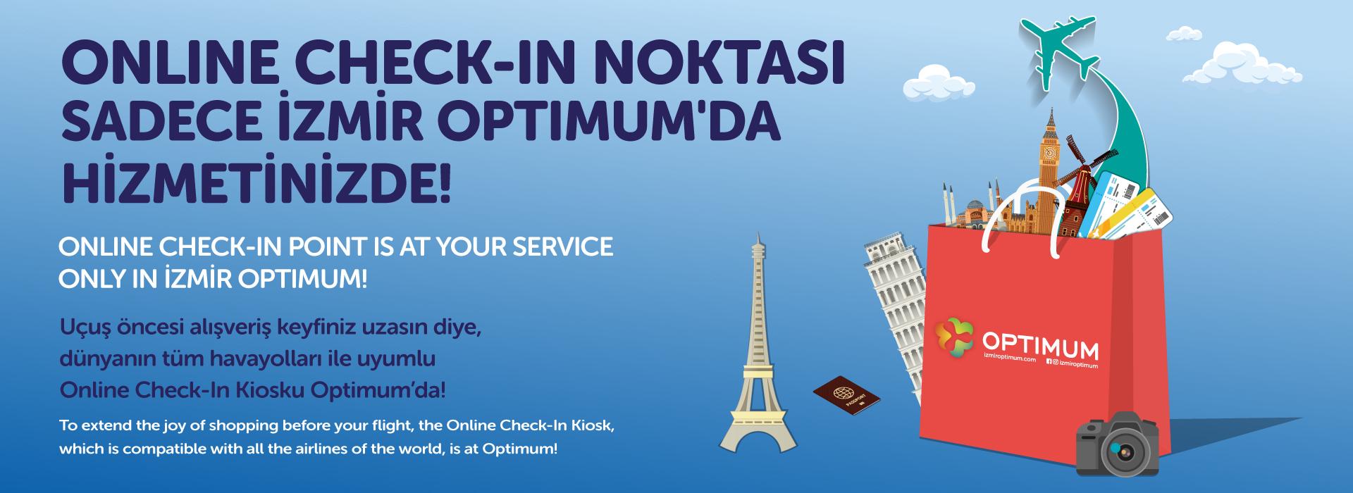 Online Check-in Noktası Sadece İzmir Optimum'da Hizmetinizde!