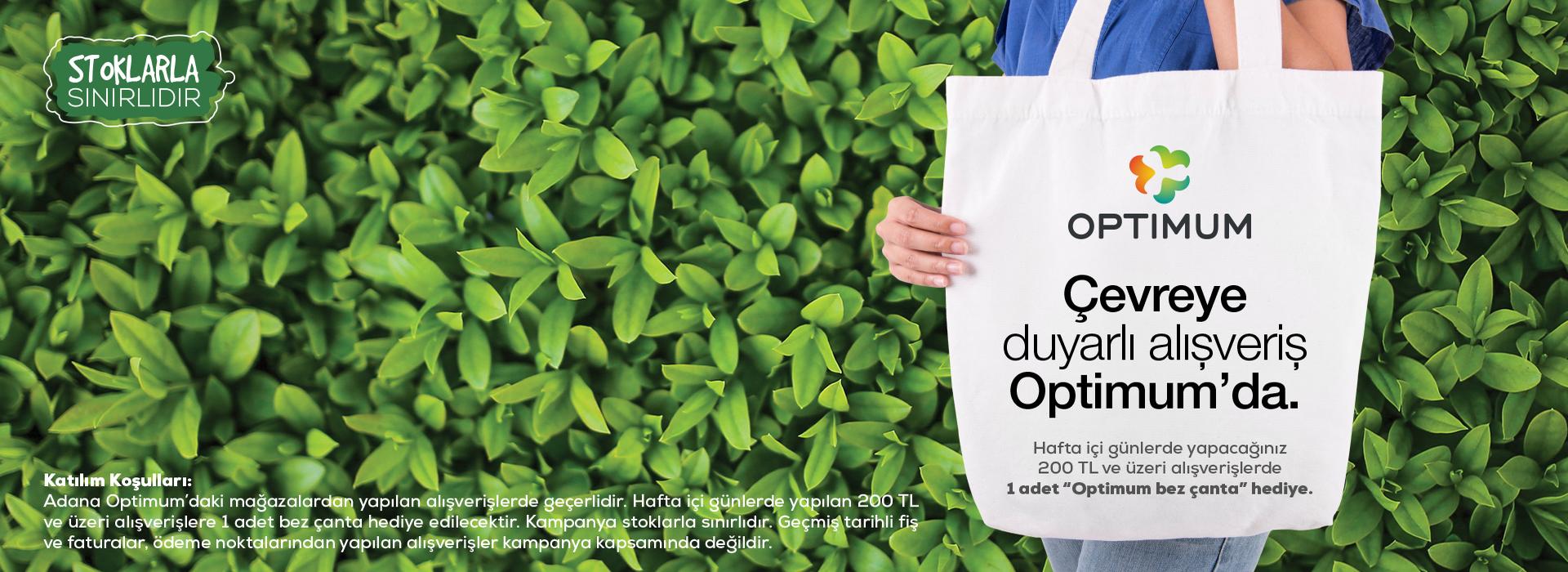 Çevreye Duyarlı Alışveriş Optimum'da
