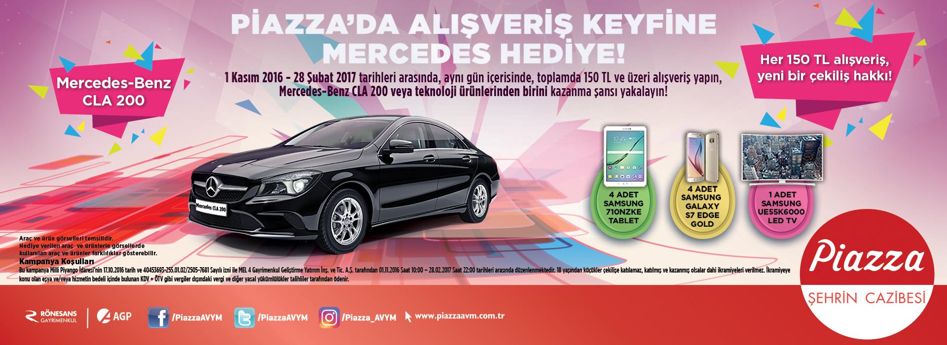 Piazza'da Alışveriş Keyfine Mercedes Hediye!