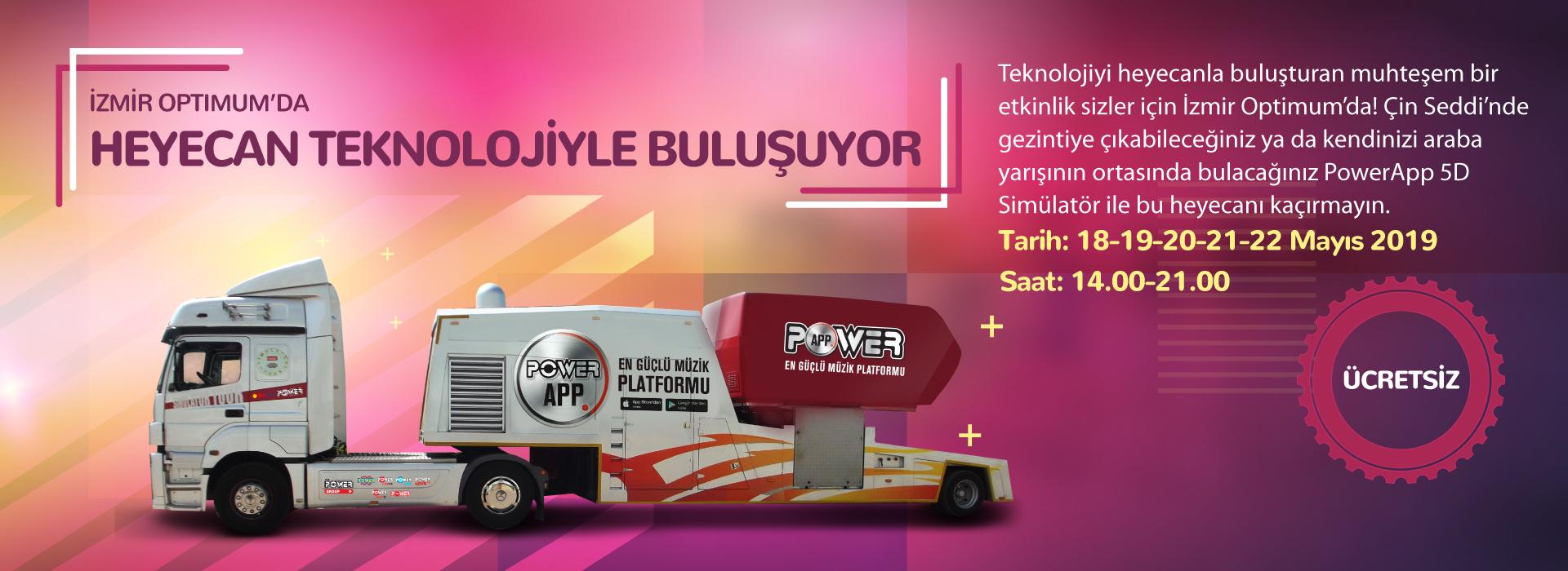 İzmir Optimum'da Heyecan Teknolojiyle Buluşuyor