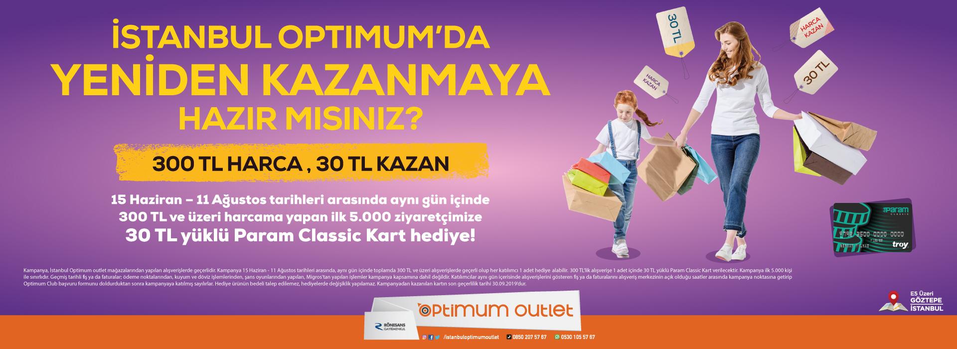İstanbul Optimum'da Yeniden Kazanmaya Hazır Mısınız?