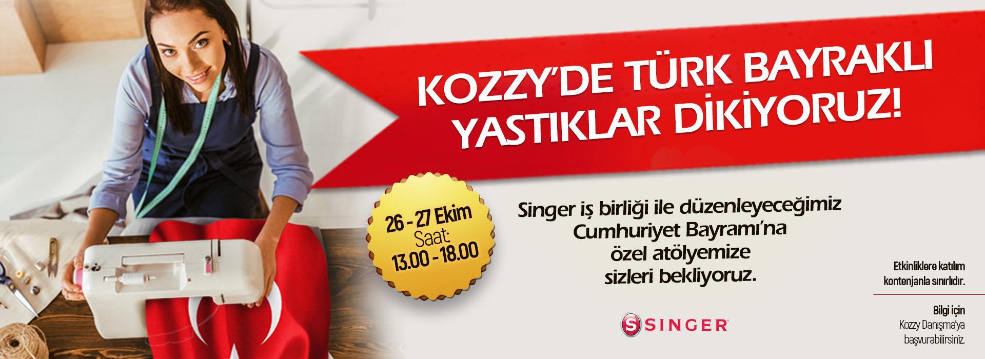 Kozzy'de Türk Bayraklı Yastıklar Dikiyoruz