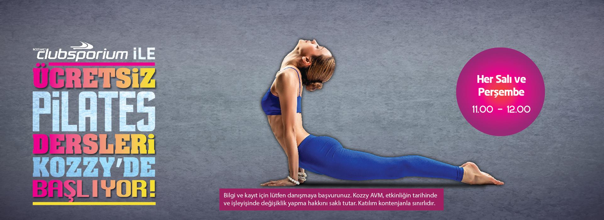 Ücretsiz Pilates Dersleri Kozzy'de