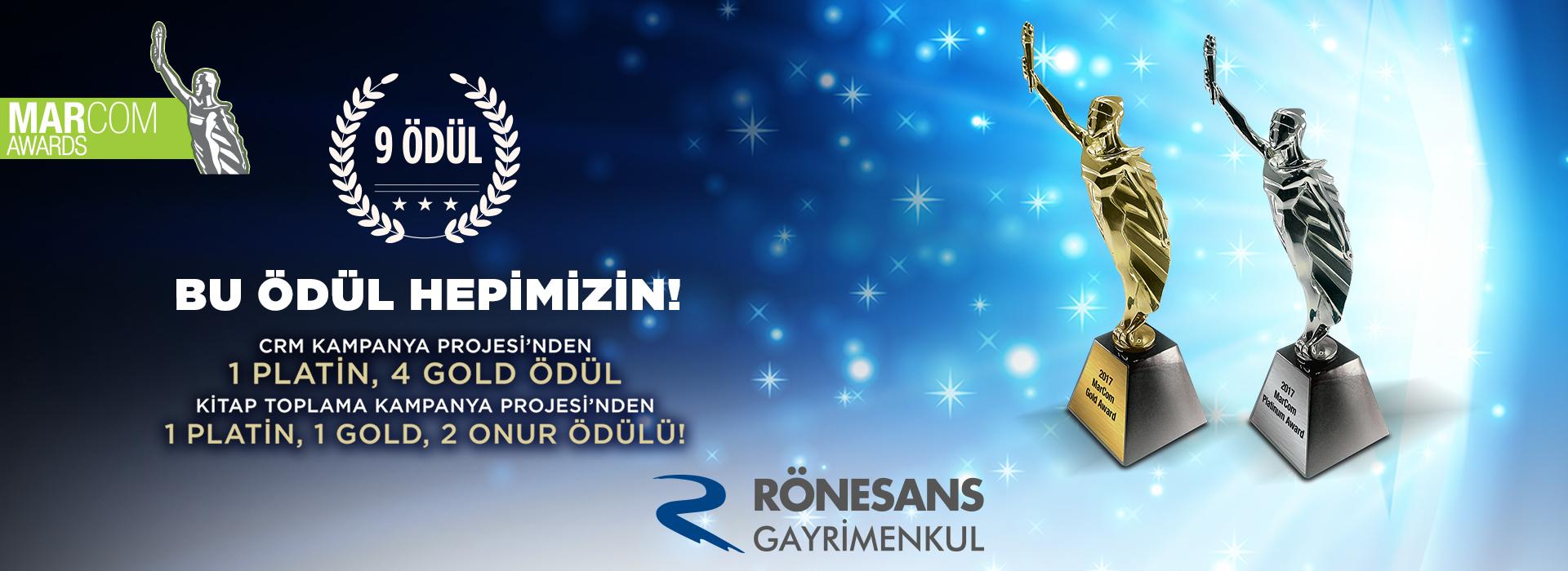 Rönesans Gayrimenkul'e Marcom Awards'dan 9 Ödül Birden!