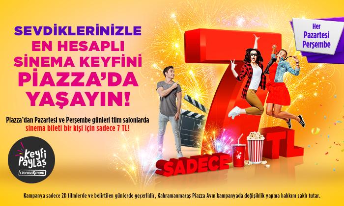 Sevdiklerinizle En Hesaplı Sinema Keyfini Piazza'da Yaşayın!