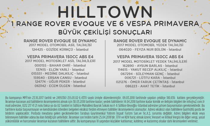Hilltown - Araç Çekilişi Kazananları