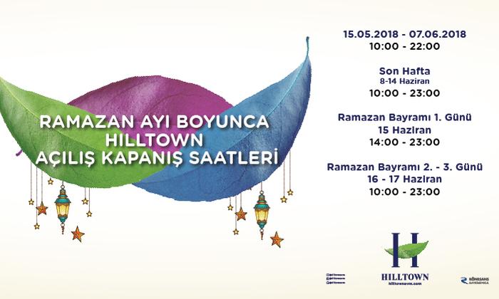 Ramazan Ayı Boyunca Açılış Kapanış Saatleri
