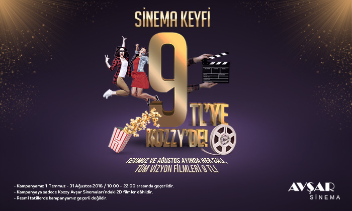 Sinema Keyfi 9 TL'ye Kozzy'de!