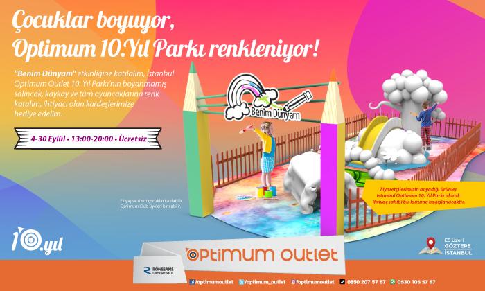Çocuklar Boyuyor, Optimum 10. Yıl Parkı Renkleniyor