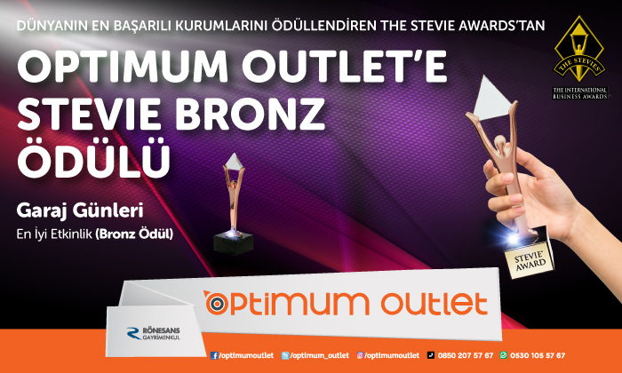 Optimum Outlet'e Stevie Bronz Ödülü