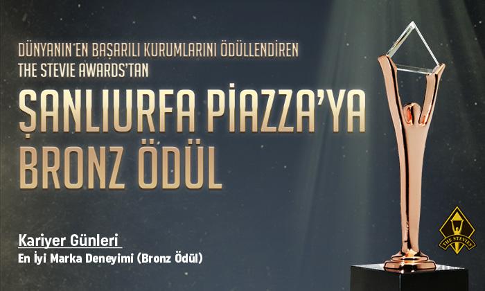 Şanlıurfa Piazza'ya Bronz Ödül