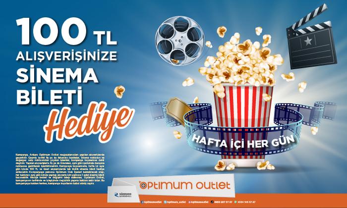 100 TL Alışverişinize Sinema Bileti Hediye