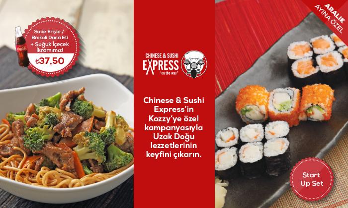 Chinese & Sushi Express'in Kozzy'ye Özel Kampanyasıyla Uzak Doğu Lezzetlerinin Keyfini Çıkarın