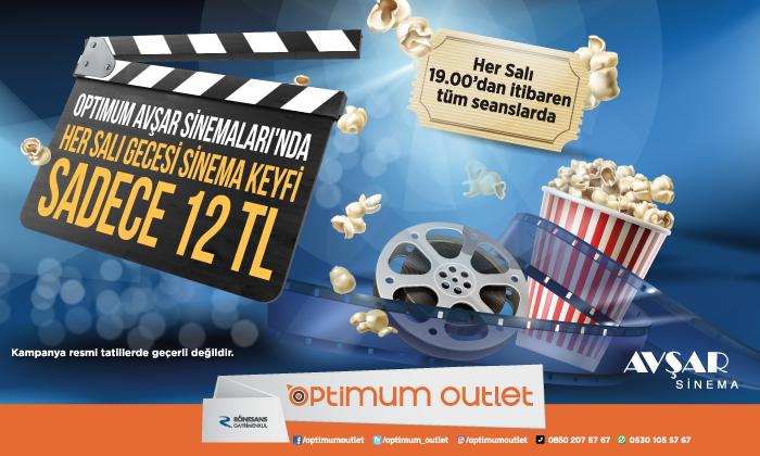 Optimum Avşar Sinemaları'nda Her Salı Gecesi Sinema Keyfi Sadece 12 TL