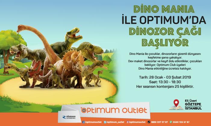 Dino Mania İle Optimum'da Dinozor Çağı Başlıyor