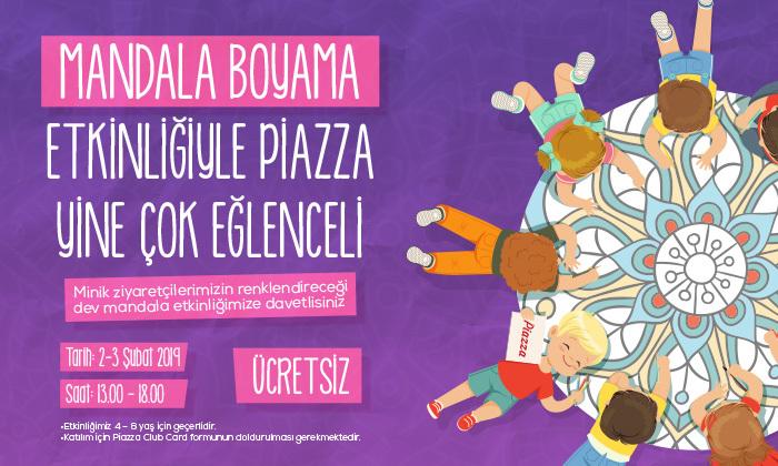 Mandala Boyama Etkinliğiyle Piazza Yine Çok Eğlencelia