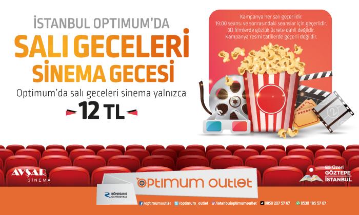 İstanbul Optimum'da Salı Geceleri Sinema Gecesi
