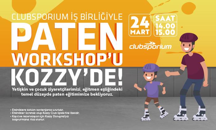 Clubsporium İşbirliğiyle Paten Workshop'u Kozzy'de