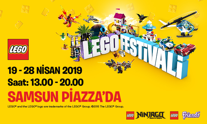 Lego Festivali Samsun Piazza'da