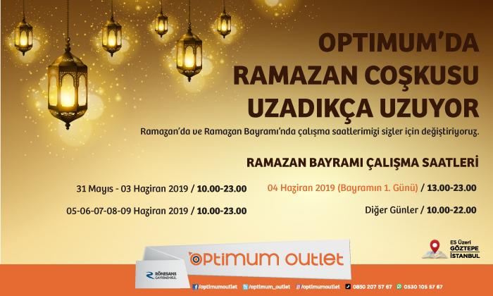 Optimum'da Ramazan Coşkusu Uzadıkça Uzuyor