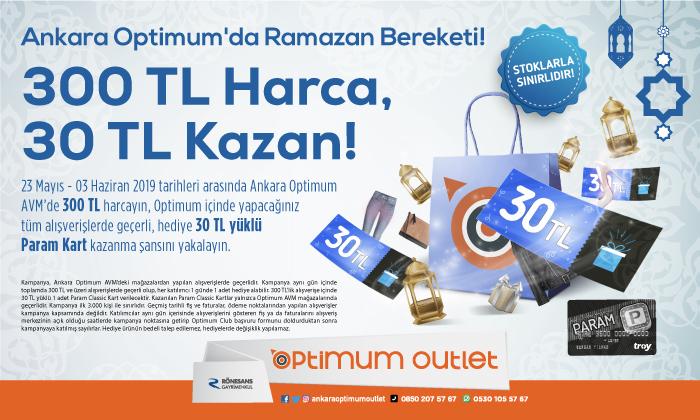 Ankara Optimum'da Ramazan Bereketi