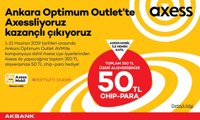 Ankara Optimum Outlet'te Axessliyoruz Kazançlı Çıkıyoruz
