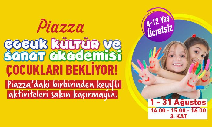 Piazza Çocuk Kültür ve Sanat Akademisi Çocukları Bekliyor!