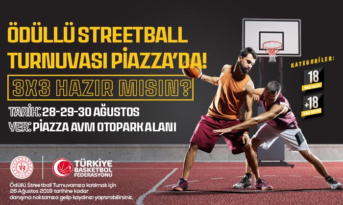 Ödüllü Streetball Turnuvası Piazza'da