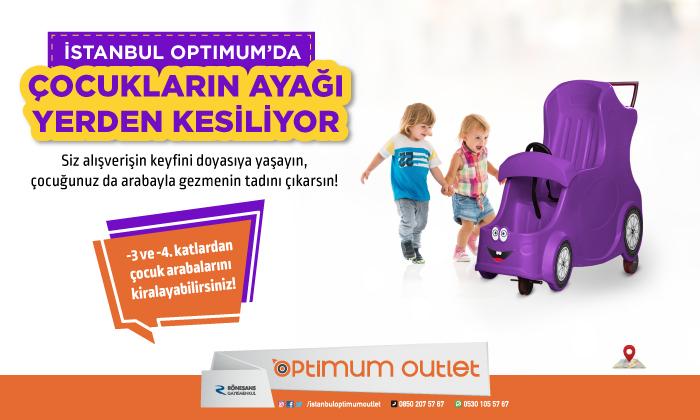 İstanbul Optimum'da Çocukların Ayağı Yerden Kesiliyor