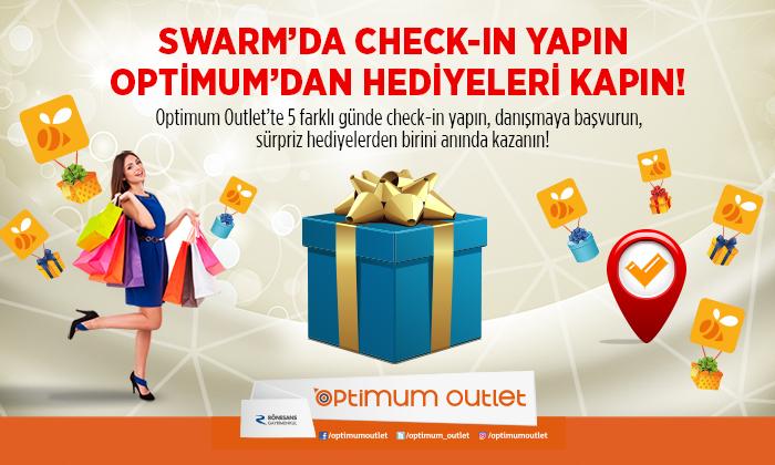 Swarm'da Check-in Yapın Optimum'dan Hediyeleri Kapın!