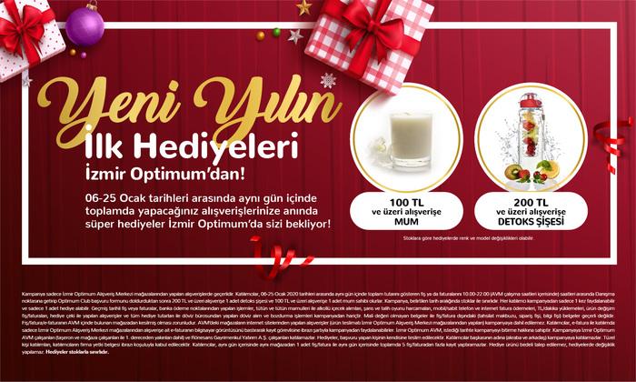 Yeni Yılın İlk Hediyeleri İzmir Optimum'dan