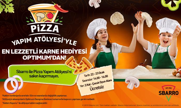 Pizza Yapım Atölyesiyle En Lezzetli Karne Hediyesi Optimum'da