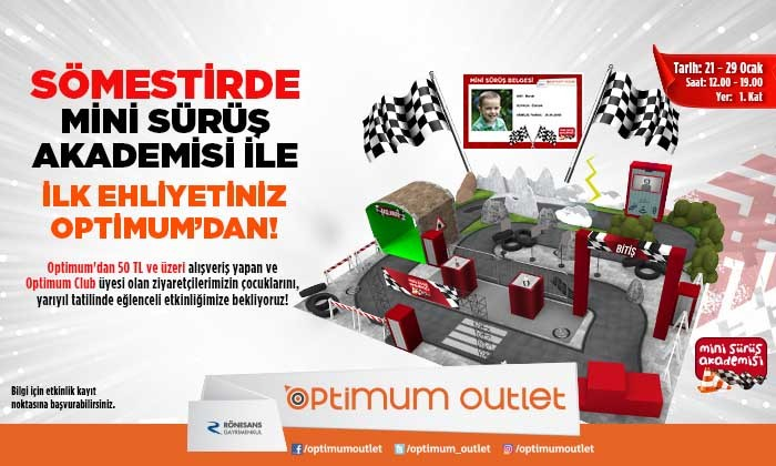 Mini Sürüş Akademisi İle İlk Ehliyetiniz Optimum'dan!