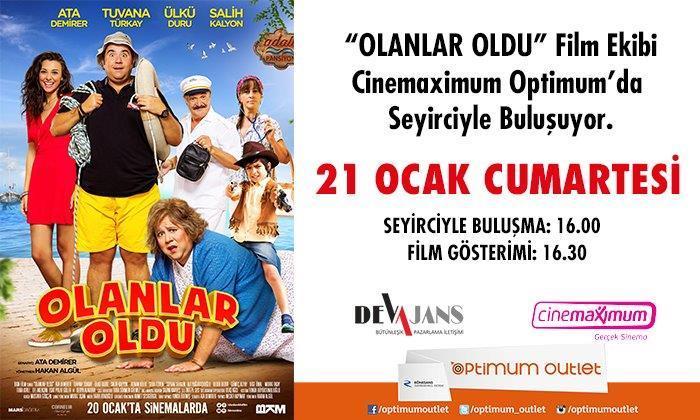 """""""Olanlar Oldu"""" Film Ekibi Cinemaximum Optimum'da Seyirciyle Buluşuyor"""