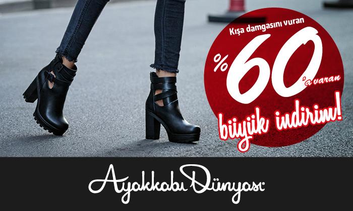 Ayakkabı Dünyası - %60'a Varan Büyük İndirim