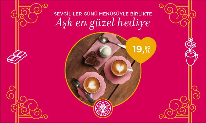 Kahve Dünyası - Sevgililer Günü Menüsüyle Birlikte Aşk En Güzel Hediye