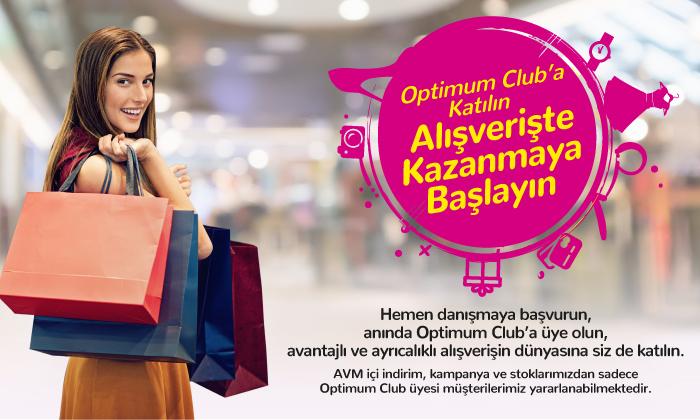 Optimum Club'a katılın, alışverişte kazanmaya başlayın!