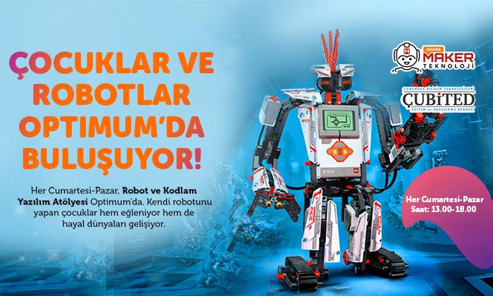 Çocuklar ve Robotlar Optimum'da Buluşuyor.