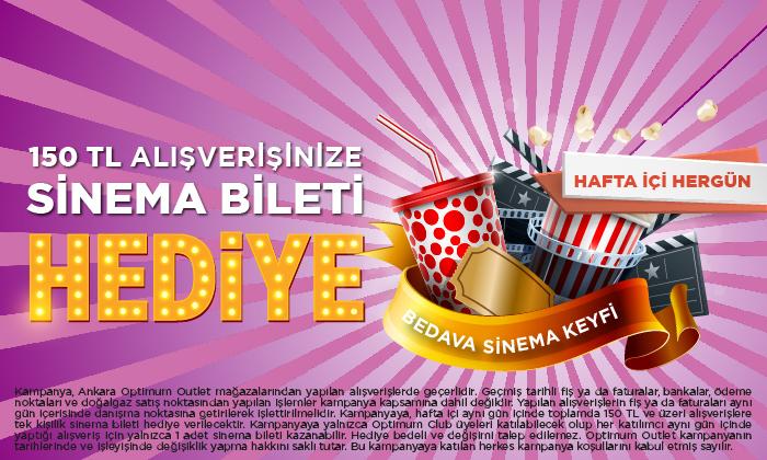 150 TL Alışverişinize Sinema Bileti Hediye!