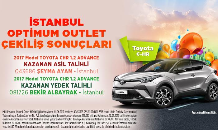 İstanbul Optimum Outlet Çekiliş Sonuçları!
